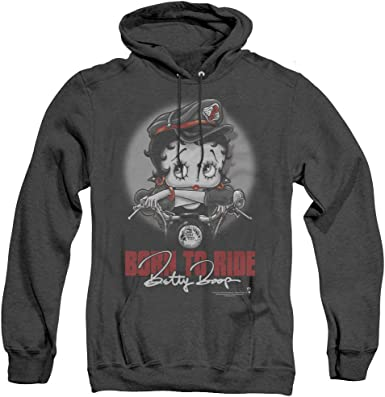 Bety Boop Born To Ride Adult Crewneck Sweatshirt