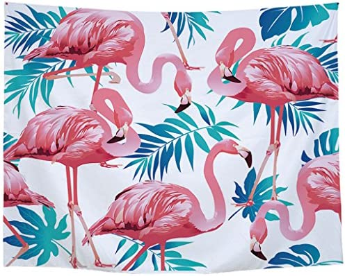 Flamingos Wall Hanging Tapestry Home Decor Collection Wall Art Blanket for Bedroom Living Room Apartment Dorm