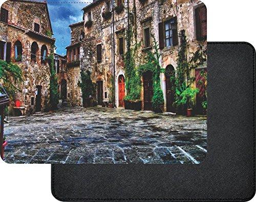 Rikki Knight Tuscany Village Scene Premium Quality Faux Leather Mouse - Premium Village