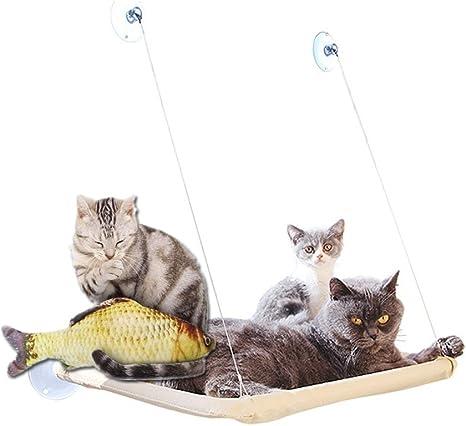 Homesupplier Hamaca para Gatos Gato Ventana Pared balda Cama Cat ...