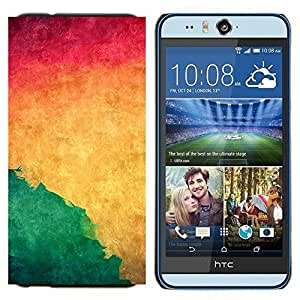 TECHCASE---Cubierta de la caja de protección para la piel dura ** HTC Desire Eye ( M910x ) ** --Acuarela Verde Líquido dinámico Yellow Wallpaper