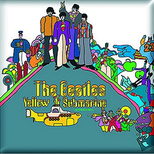 The Beatles Fridge Magnet Yellow Submarine Album Official 76Mm X 76Mm Beatles Yellow Submarine Magnet