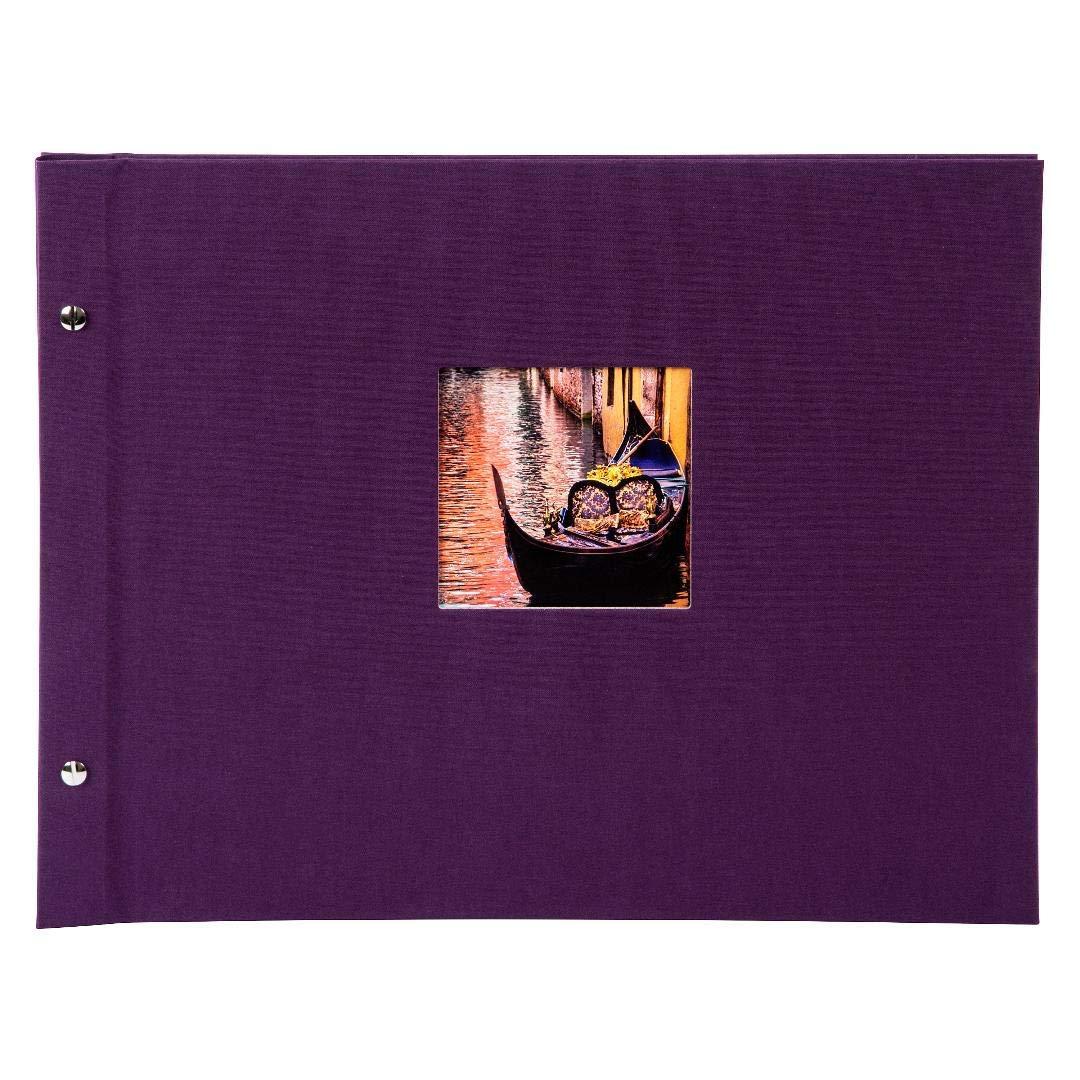 Goldbuch Schraubalbum mit Fensterausschnitt, Bella Vista Trend 2, 2, 2, 30 x 25 cm, 40 schwarze Seiten mit Pergamin-Trennblättern, Erweiterbar, Leinen, Dunkel Aubergine, 26718 B00B6O0UH2 Fotoalben 102dd8