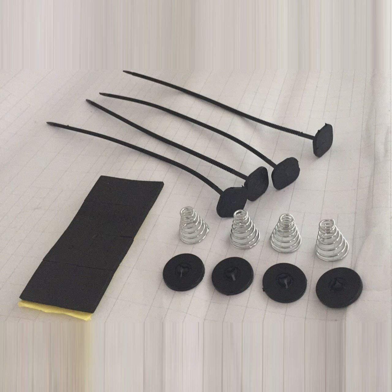 ESjasnyfall negro Accesorio para autom/óvil Kit de montaje de ventilador de radiador el/éctrico individual Almohadillas de correa de amarre