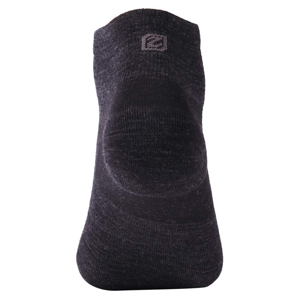 Low Cut Running Socks, ZEALWOOD Women Merino Wool Antibacterial Socks Ultra-Comfortable Cycling Training Socks Anti-Blister Moisture Wicking Socks,3 Pairs-Black,Small by ZEALWOOD (Image #4)