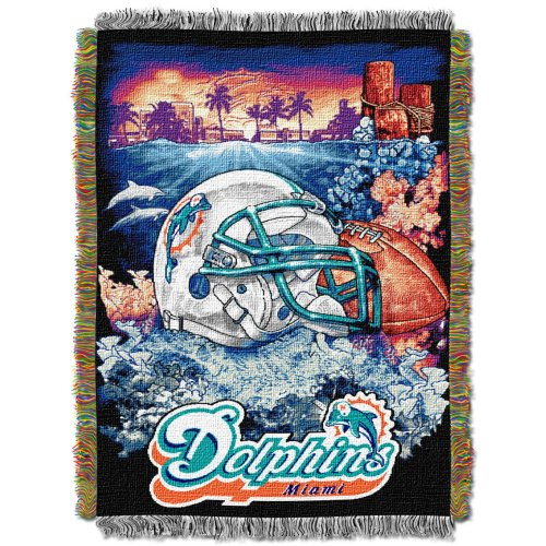NFL Miami Dolphins Acrylic Tapestry Throw Blanket