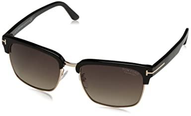 f0cebee4dc Amazon.com  Tom Ford TF367 01D Black River Retro Sunglasses Polarised Lens  Category 3 Size  Tom Ford  Clothing