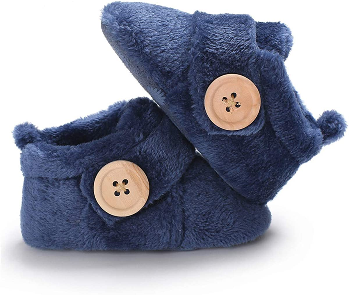 BENHERO Baby Newborn Crib Cozy Fleece Winter Booties Non Skid Soft Sole Shoes Warm Winter Socks