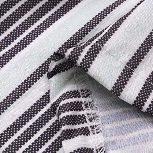 Harem Con Stripe Pantaloni Libero Elastica Tempo Vita Lunga Eleganti Coulisse Per Schwarz Donna Grazioso Women Giovane Estivi Fashion n7w6IBx5x