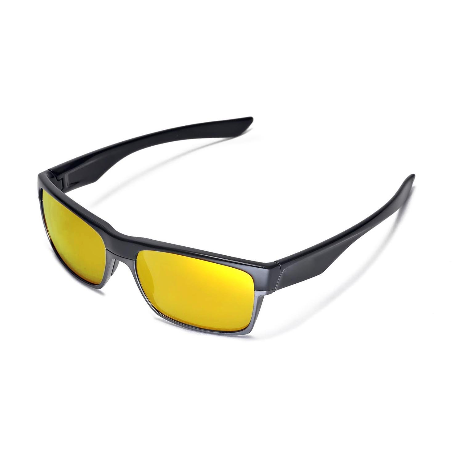a73037cca0 Amazon.com  Walleva Replacement Lenses for Oakley TwoFace Sunglasses - 6  Options Available (24K Gold - Polarized)  Sports   Outdoors