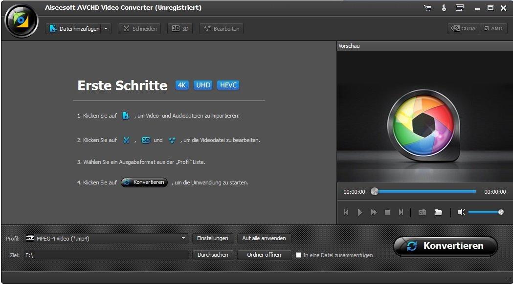 AVCHD Video Converter - Umwandlung, Bearbeitung, Konvertierung für ...