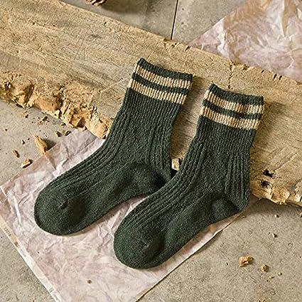 Día de la antigua bodega calcetines calcetines de lana gruesa coreano femenino en otoño e invierno