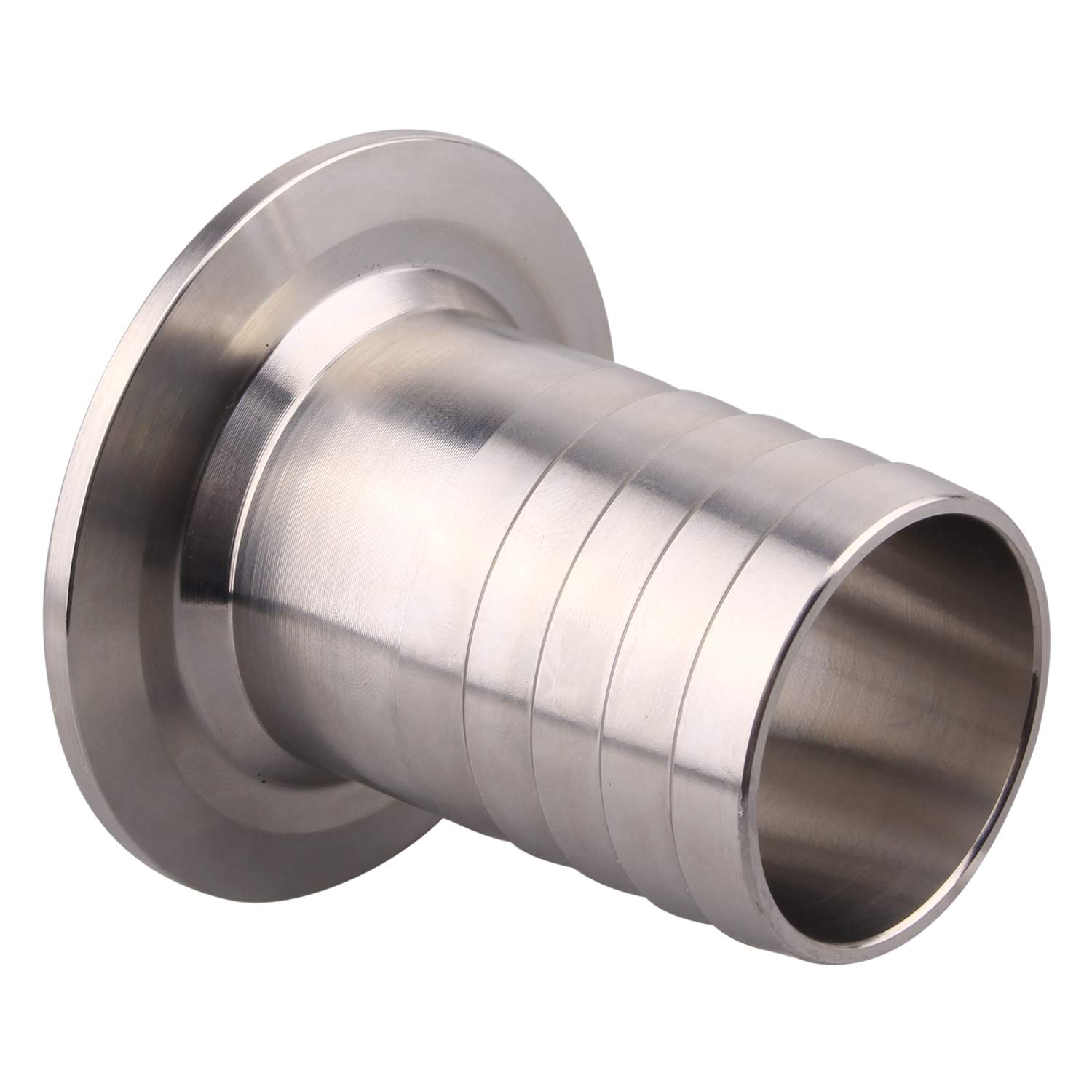 DERNORD 2 Tri Clamp to 1.5 Inch Hose Barbed Adapter SUS304 Sanitary Hose Barb Pipe Fitting 1.5 Inch (2 Inch Tri clamp