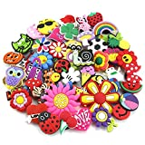 OPount 50 Pieces PVC Different Shoe Charms for Croc & Jibbitz Bands Bracelet Wristband Kids Party Birthday Gifts