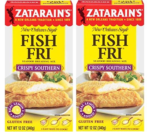 Zatarains Breading Crispy Fish Fry 12 OZ (Pack of 2) by Zatarain's