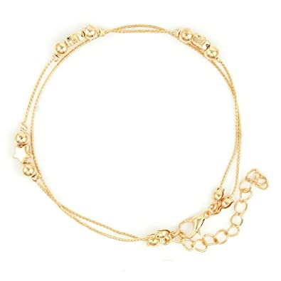 6a4c615dd91 Nakabh Fashion Jewellery Indo Western Single Leg Anklet for Girls and Women  (Golden)