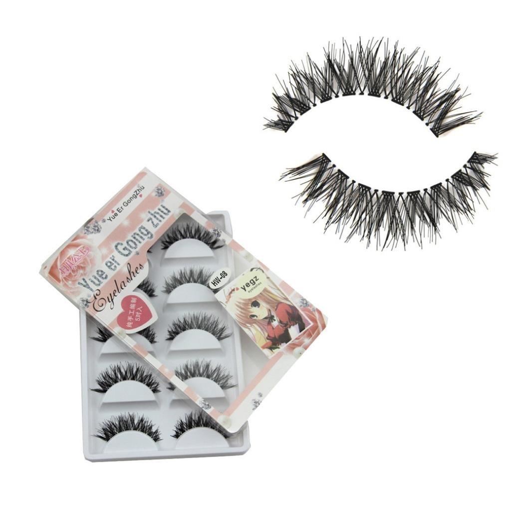Amazon.com : Voberry Women Gril Lady 5 Pair/lot Crisscross False Eyelashes Lashes Voluminous HOT Eye Lashes Hw-8 : Beauty