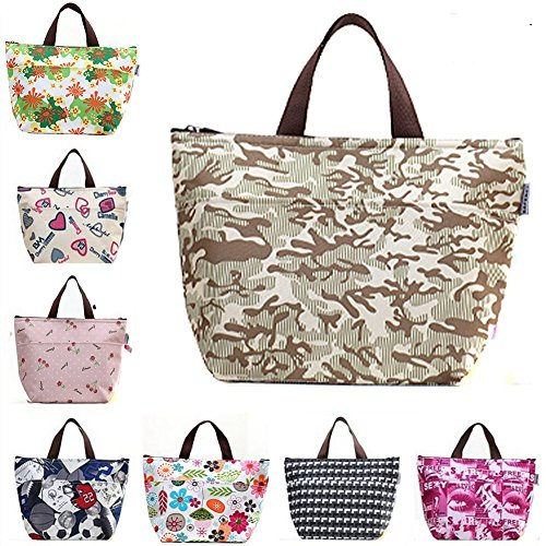 for Black Lunch Organizer Bag Lunch Insulated Lunch Tote Carry Women Lunch Cooler Container Girls Bag Bag Black Holder TININNA w6pUzw