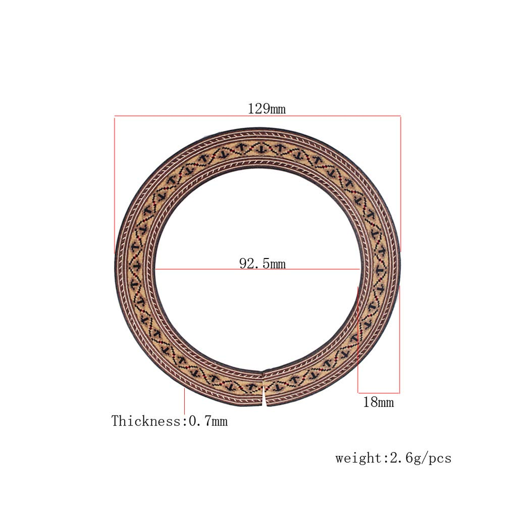 Sharplace 3 pcs Rosette Incrustaci/ón de Madera para Guitarra