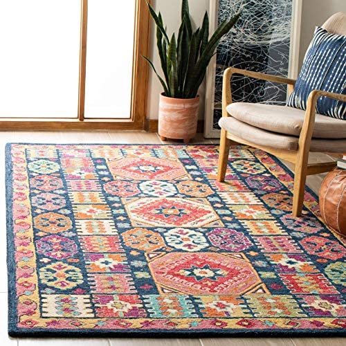 Safavieh Aspen Collection APN518M Handmade Boho Wool Area Rug - a good cheap living room rug