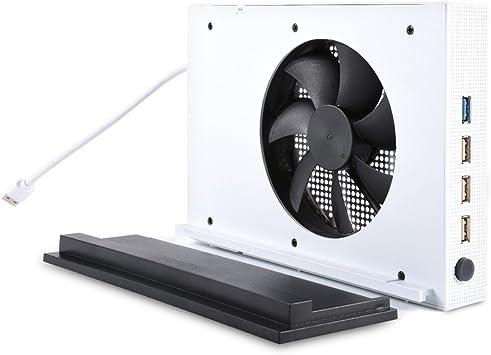 Ventilador de refrigeración para Xbox One S, wrcibo Super refrigeración PC apoyo para Microsoft Xbox One Slim Gaming Console con USB Hub, Pas Plus se soucier de la surchauffe: Amazon.es: Electrónica