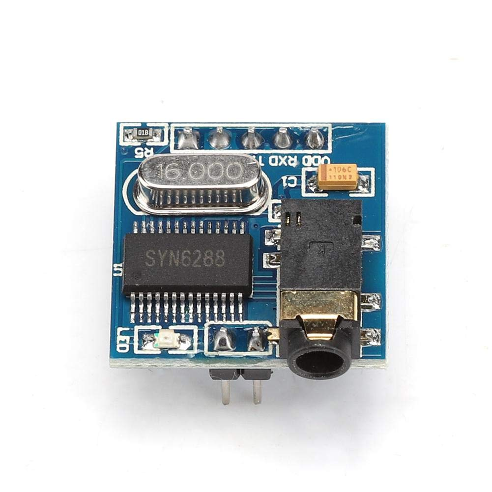 Lazmin SYN6288 Voice Module, Speech Synthesis Module Text-to-Speech TTS Sound Module with Real-Life Pronunciation