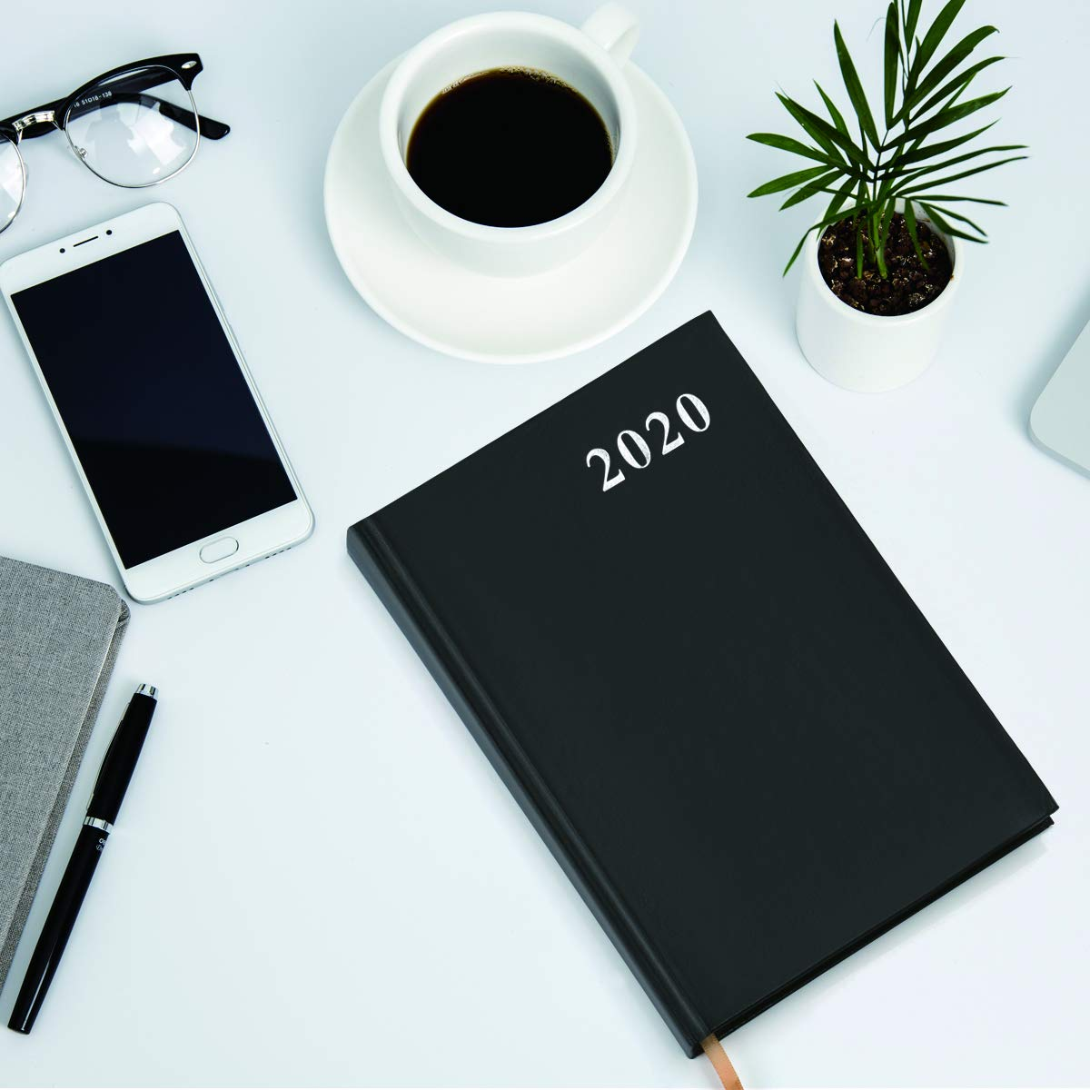 2020 Planner Faux Leather Daily Weekly Monthly Yearly Planners for Academic Journal Agenda Schedule Organizer and Writing Notebook, 5.8 x 8.3 in