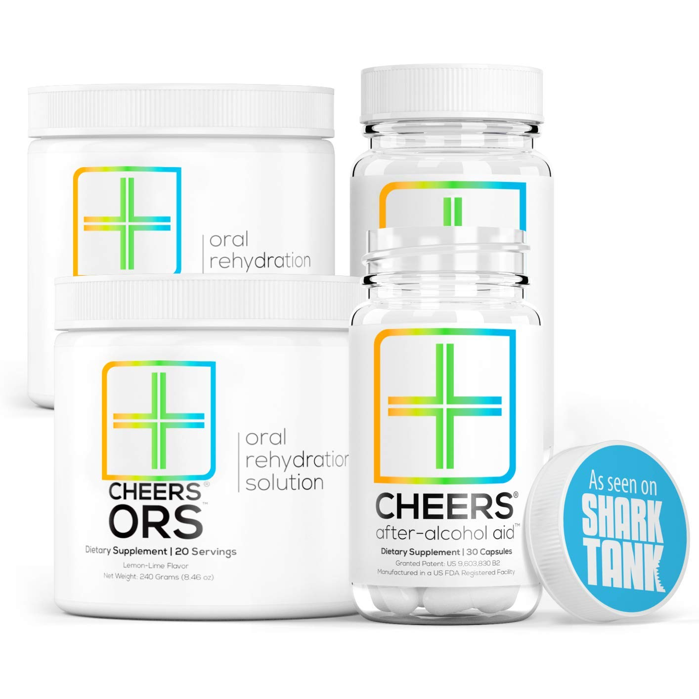 Cheers (Formerly Thrive+) After Alcohol Aid & ORS Combo | for Fast Alcohol Detox & Rehydration Recovery After Drinking Alcohol. Replenish with Our Electrolyte Formula … (Double) by Cheers (Image #1)