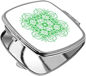 Decorative Drawings - Rose Printed Pocket Square Mirror