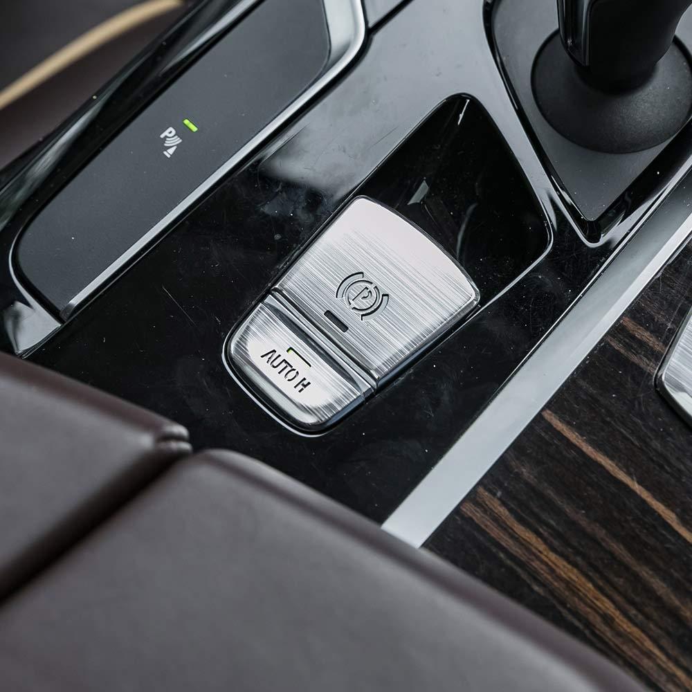 Amazon com: Aluminum Car Electronic Handbrake Auto H Button Cover