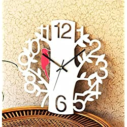 Clock Wall Clock LIX Wall Clock Personality Mute Art Fashion Creative Living Room Large Hanging Table Clock Digital Woodpecker Watches (Color : Black, Size : 35 35cm)