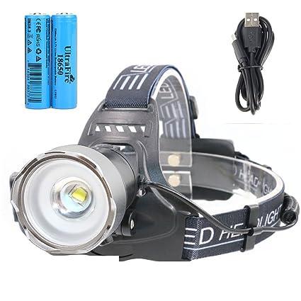 Ultrafire Lampe Frontale Led Rechargeable Avec 18650 Batterie Li Ion