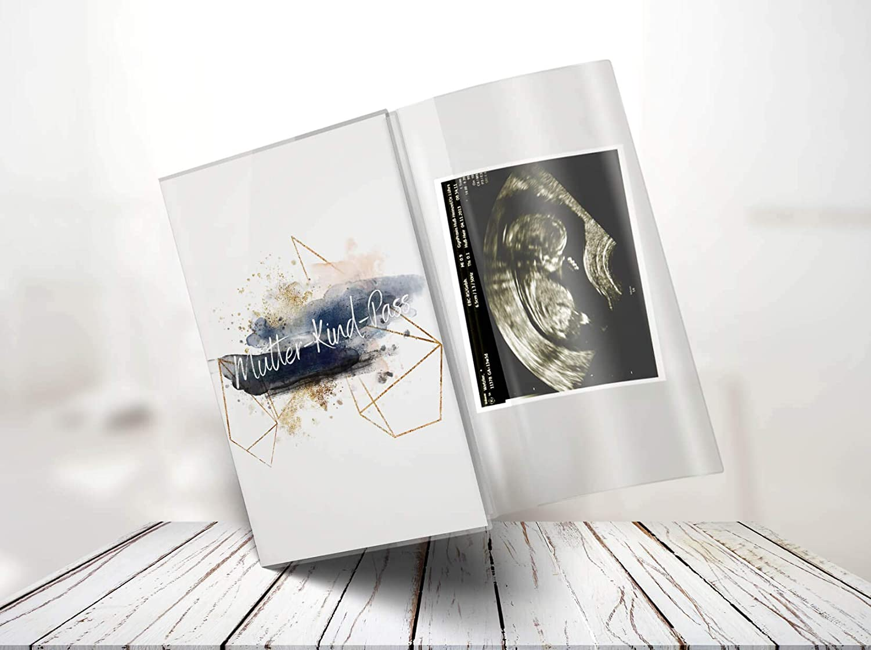 Mutterpass ohne Personalisierung, Splash-01 Mutterpassh/ülle 3-teilig Motiv Golden Glamour Splash Mutterpass H/ülle Schwangerschaft Geschenkidee