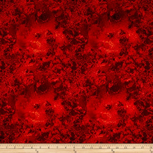 Wilmington Prints Essentials Cosmos Dark Red Fabric By The Yard (Yard By The Fabric Red)