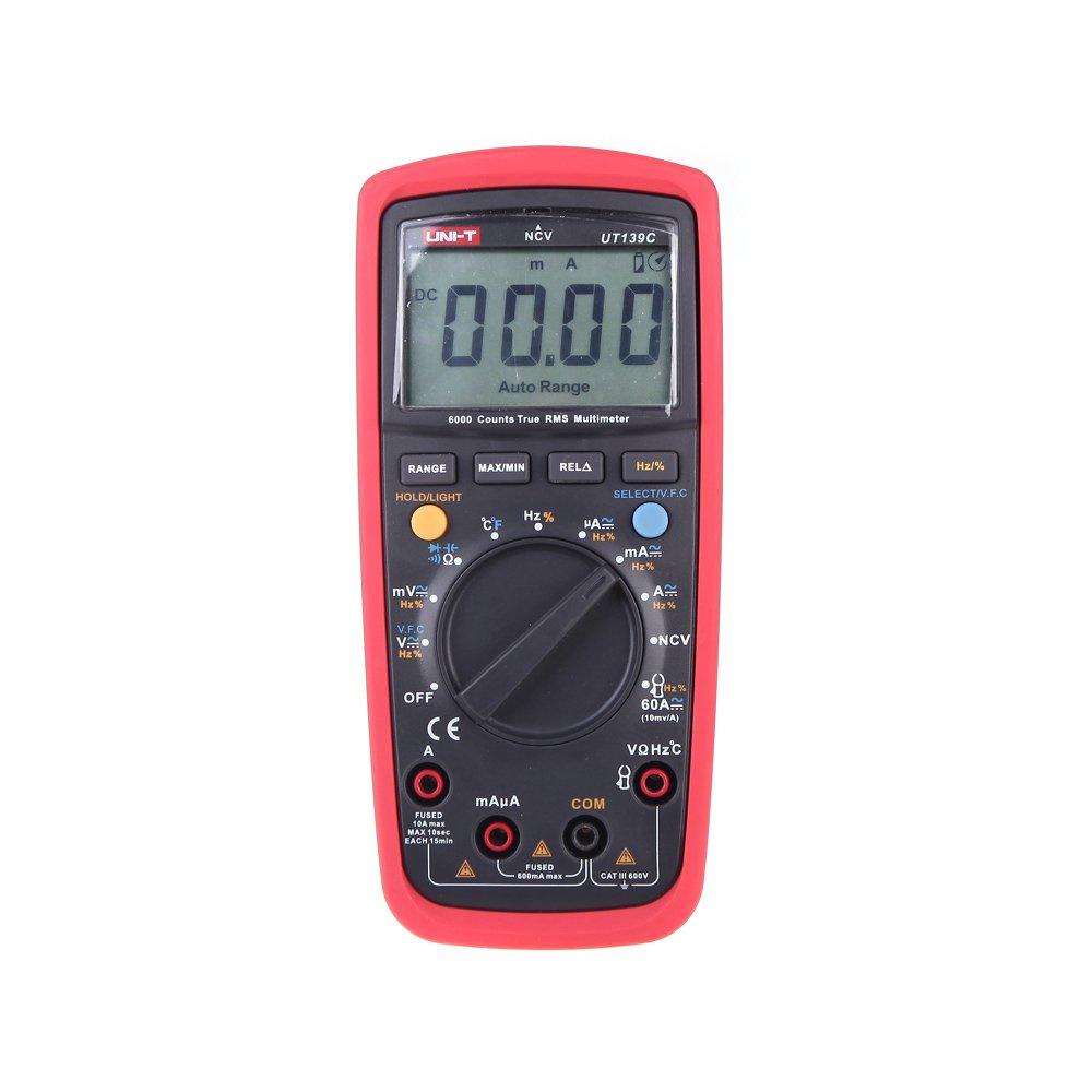 UNI-T UT139C True RMS Auto Range Digital Multimeters Display Count 6000
