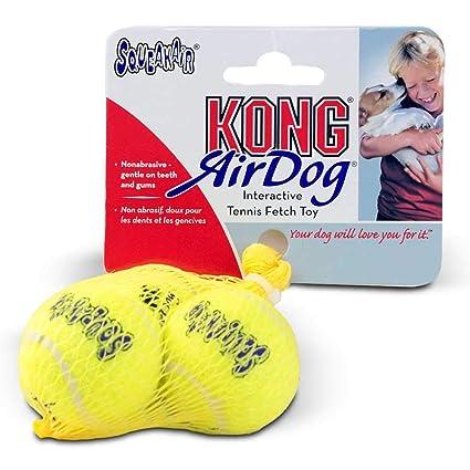 KONG AST2 - Pelota de Tenis para Perro, tamaño Mediano, 3 Unidades ...