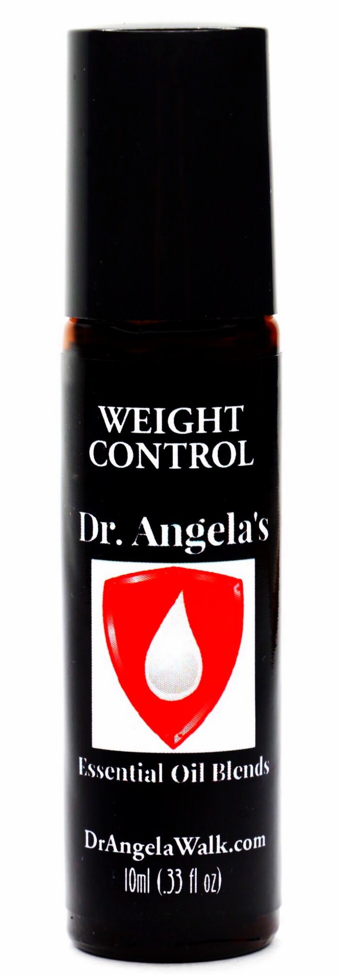 Dr. Angela's Weight Control Essential Oil Blend | Therapeutic Grade | Weight Loss Support Roll-On Bottle 10ml (.33 fl oz)