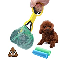 CINOTON Pooper Scooper Pet Waste Shovels Cleaning Tool Handle Grabber Pick up Jaw for Dog and Cats