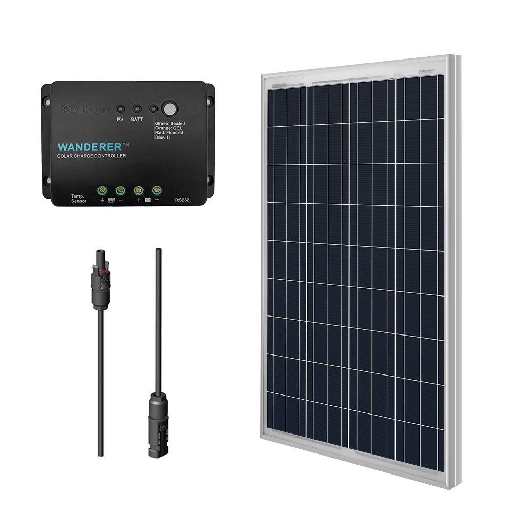 Renogy 100W 12V Polycrystalline Solar Bundle Kit product image