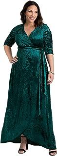 product image for Kiyonna Women's Plus Size Cara Velvet Wrap Dress