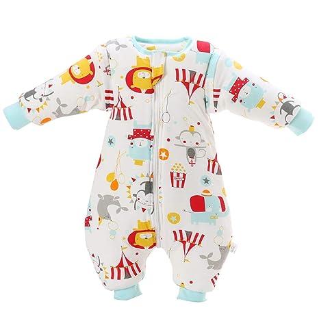 Saco de dormir para bebés de invierno Saco de dormir de algodón de manga larga,