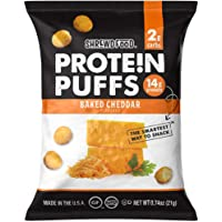Shrewd Food Keto Protein Puffs, Low Carb, High Protein, Healthy Cheese Puff, 14g per Pack, 2g Carbs, Gluten Free Snacks…