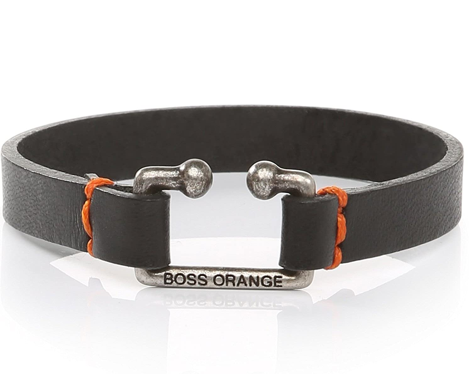 Pulsera Hugo Boss Orange Morris negra de piel para hombres: Amazon.es: Joyería
