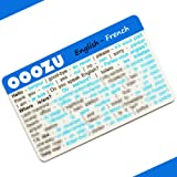 OOOZU French Language Card | Convenient French Phrasebook Alternative | Essential French For Travel To France/Paris