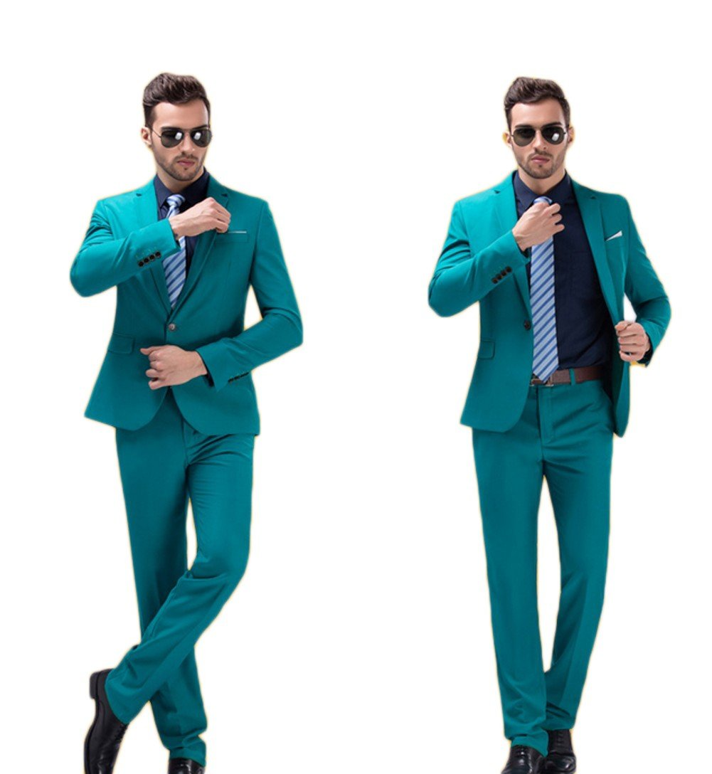 Love Dress Wedding Suits for Groom Tuxedos for Men Jacket Pant Sky Blue XS