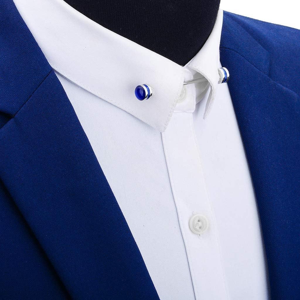 Fenteer Broche /à Col Hommes /épingles de Cravate Chemise pour Business Banquet Mariage