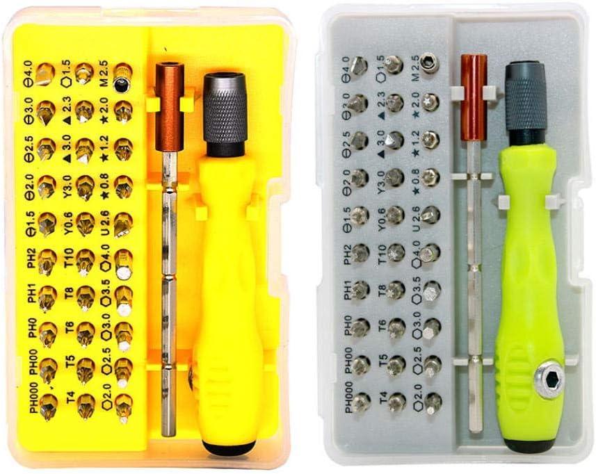 lqgpsx 32 in 1 Multi Purpose Precision Screwdriver Screwdriver Made of Chrome Vanadium Steel Digital Product Repair Tool Set Hand Tools Yellow