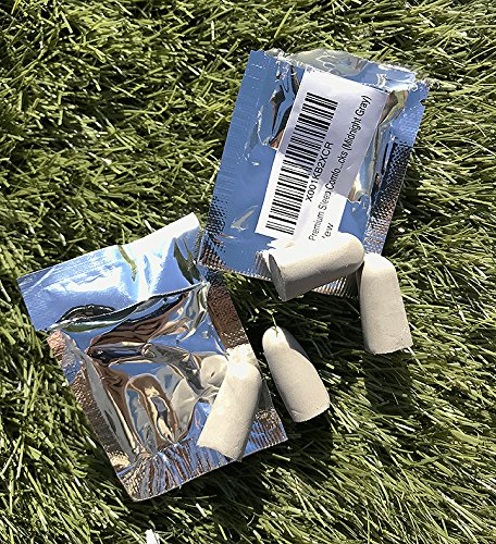 Premium Sleep Comfort Hygienic Foam Ear Plugs, A Set of 2 Individually Sealed Sanitary Packs (Midnight (Sealed Plug)