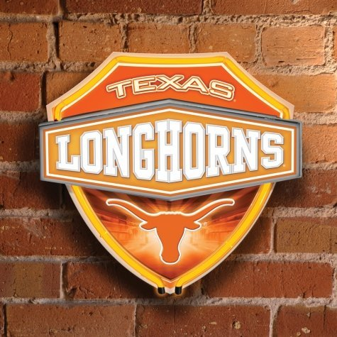 College Neon Shield Wall Lamp Team: Texas