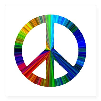 357c594dd5 Amazon.com  CafePress Peace Sign Prism.Png Square Sticker 3